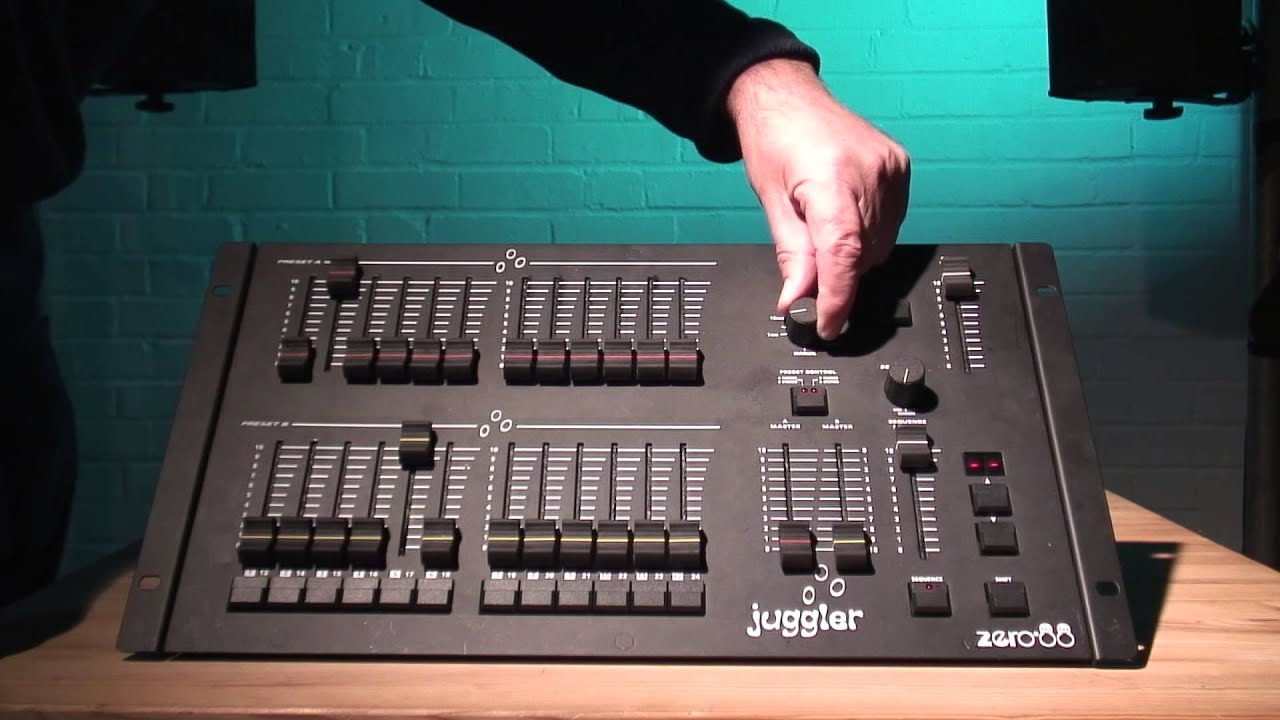 the zero 88 juggler lighting desk youtube