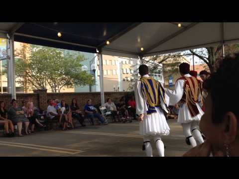 Evzone dances : Greek Festival Short North Columbus, OH