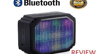 URPOWER-Z2 Bluetooth Speaker with 7 LED Visual Modes Review