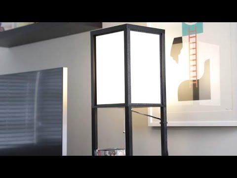 brightech-maxwell---led-shelf-floor-lamp---modern-standing-light-for-living-rooms-&-bedrooms