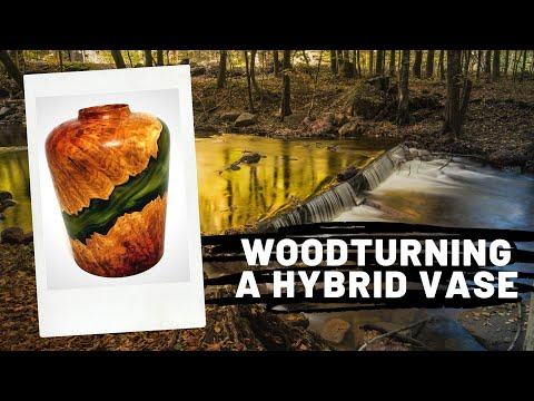 Woodturning - A Hybrid Wood and Resin Vase