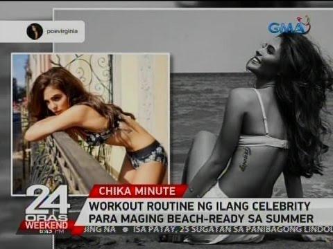 24 Oras: Workout routine ng ilang celebrity para maging beach-ready sa summer