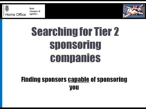 All companies sponsoring Tier 2 UK visas - a Comprehensive List compiled by VisaManUK