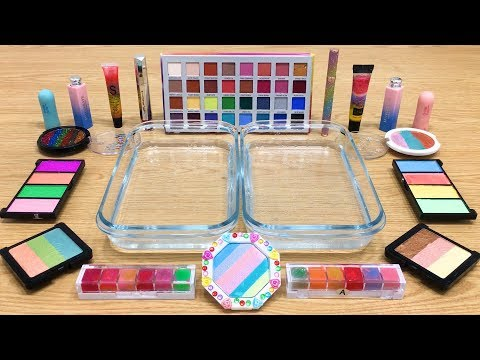 RAINBOW ! Mixing Makeup Eyeshadow into Clear Slime ! Special Series #32 Satisfying Slime Videos thumbnail