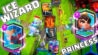 New MAX Legendary ICE WIZARD & PRINCESS Cards! Clash Royale All New Cards Gameplay!