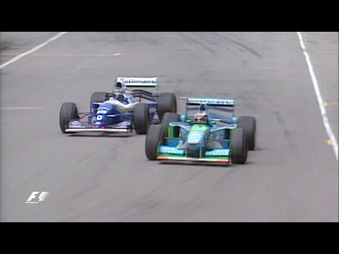 Schumacher And Hill Collide In Title Showdown | 1994 Australian Grand Prix
