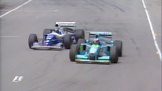 Schumacher And Hill Collide In Title Showdown   1994 Australian Grand Prix