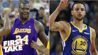 Download Shaq's 2001 Lakers vs Steph's 2018 Warriors: Who would win? | First Take Mp3 and Videos
