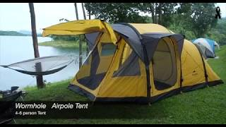 """รีวิว Naturehike   """"wormhole  Airpole Tent """"  เต็นท์ รูหนอน"""