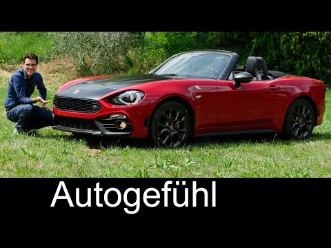 Abarth 124 Spider FULL REVIEW test driven 170hp 2017/2016 all-new neu