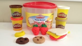 Play-doh Picnic Bucket  Playset Tutorial How To Make Play Doh Cookies And Candy