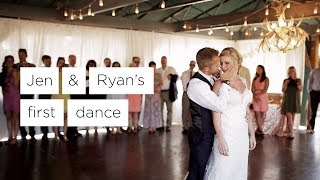 Jen & Ryan's Amazing Choreographed First Dance, Saratoga Wyoming Wedding