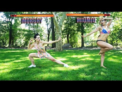 Bikini female fighting