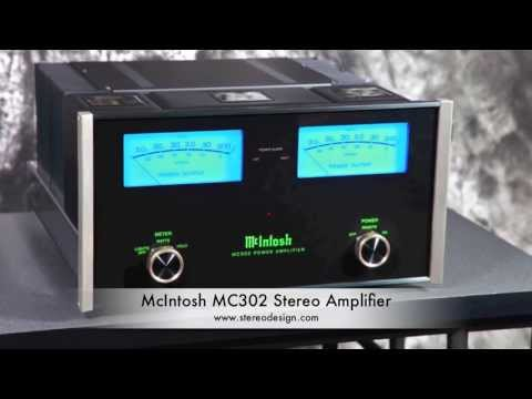 Stereo Design McIntosh MC302 Stereo Amplifier in HD
