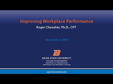 Improving Workplace Performance with Roger Chevalier