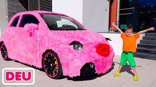 Vlad und Nikita - Rosa Auto für Mädchen