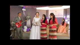 Zoa weds Zoi 08 01 15 groom on bass bride singing