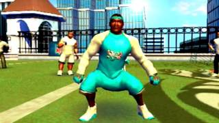 NFL STREET 2 GAMEPLAY - STEVE SMITH CRAZY GAME BREAKER  PLUS HIT STICKS