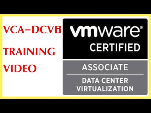 vmware vsphere vca-dcv 6 training (data center certified virtualization)
