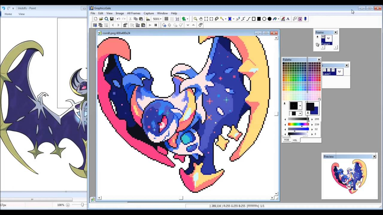 Lunala Pixel Art Process Video