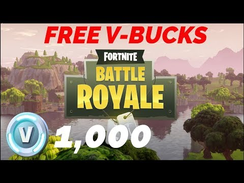 FORTNITE FREE V-BUCKS GIVEAWAY!