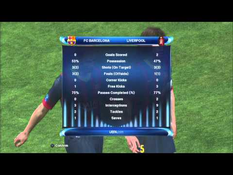 PES 2014: UEFA SUPER CUP: Barcelona vs Liverpool