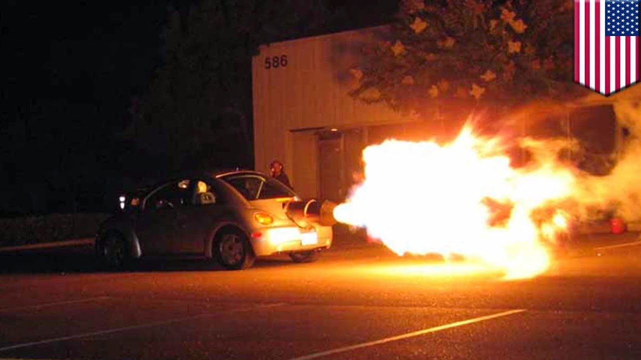 VW Beetle spits fire, rides like a rocket after California man spends $200k to install jet ...