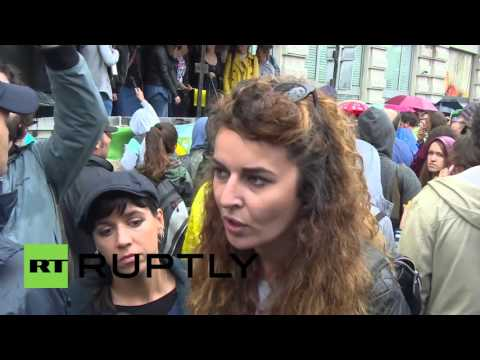 Serbia: Protesters rally against government-backed Belgrade Waterfront project
