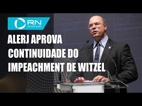 Alerj aprova continuidade do processo de impeachment de Wilson Witzel
