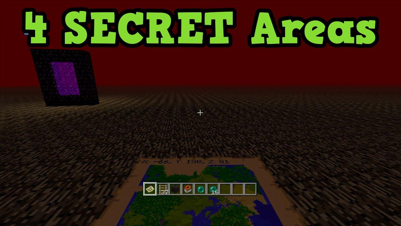 Minecraft Xbox 360 PS3 4 Secret Areas YouTube