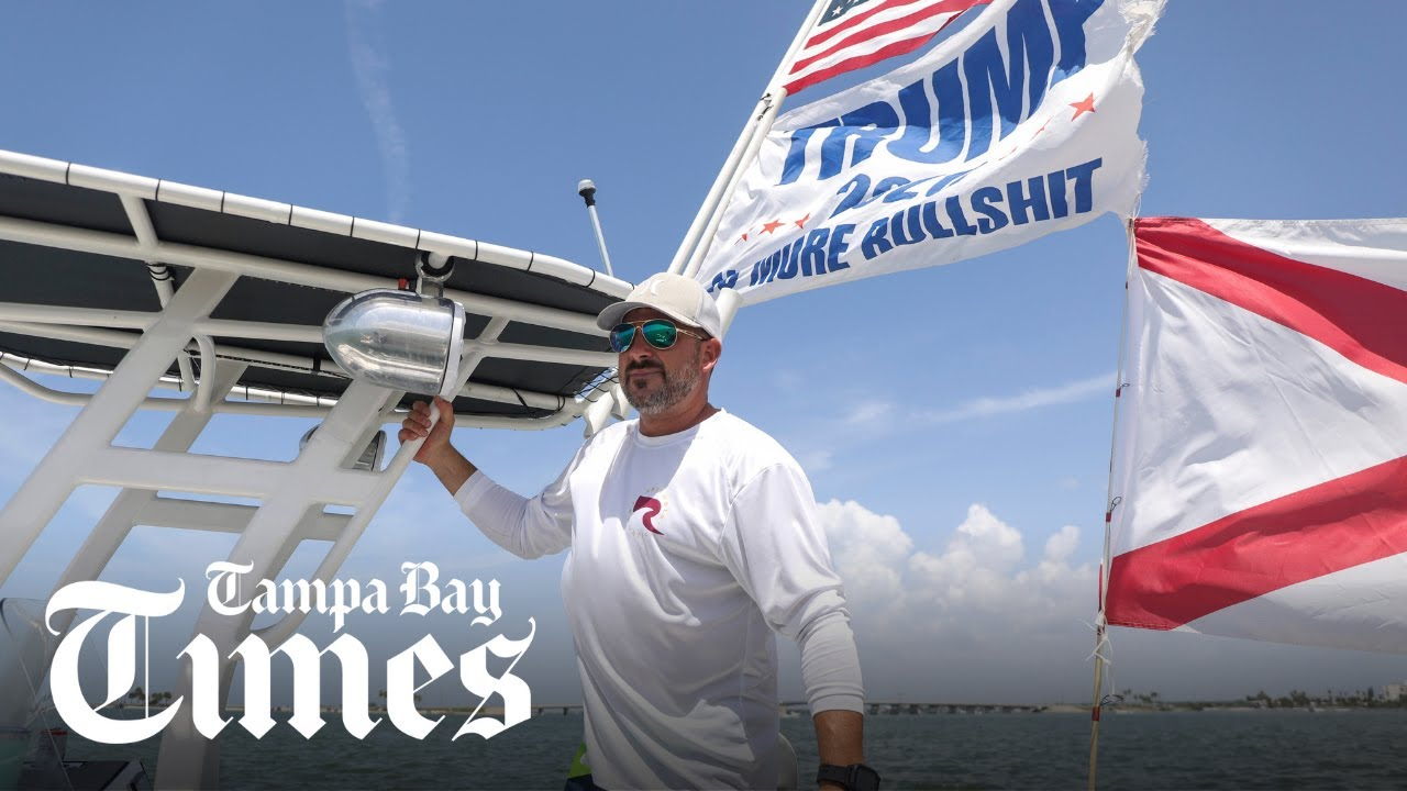 Why are Trump flags so popular with Tampa Bay boaters?