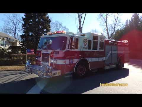 Rye Brook FD Ladder 30 + Port Chester FD Ladder 31 + Rescue 40 + Engine 62 Responding