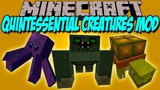 QUINTESSENTIAL CREATURES MOD - Pulpos, tortugas y mas!! - Minecraft mod 1.8 Review ESPAÑOL