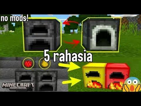 5 rahasia furnace yg mungkin kalian blm ketahui di minecraftPE no mods!