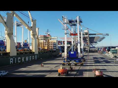 Fenix Marine Services RTG Delivery | Aerial Video by One Zero Digital Media