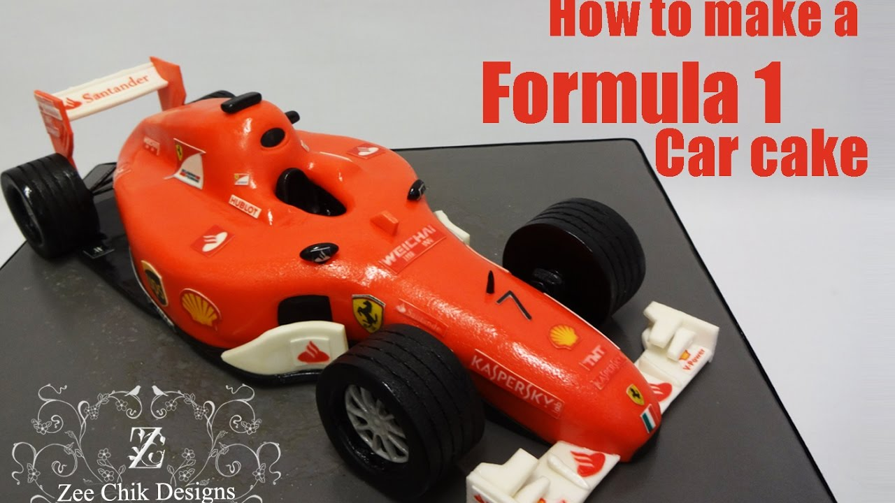 How to make a formula 1 car cake youtube for F1 car cake template