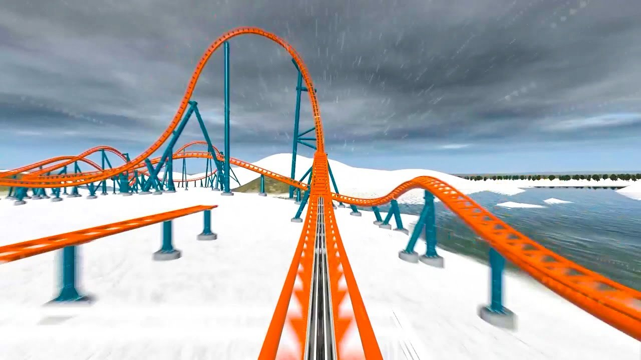 Ice Breaker Roller Coaster POV SeaWorld Orlando