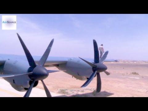 Aircrew Prepares C-130J Hercules for Takeoff