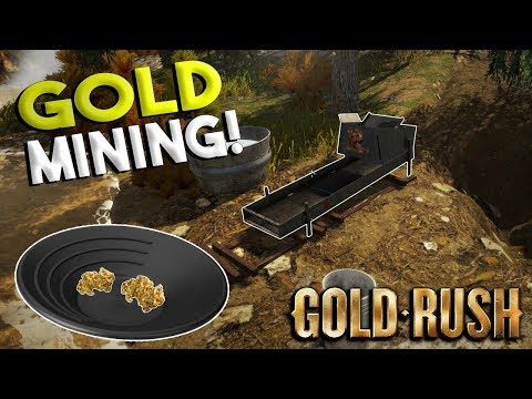 GOLD PANNING GAME & STARTING OUR FIRST DIG! - Gold Rush The Game Gameplay - First Impressions