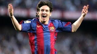 Barcelone : Le premier but de la carrière de Lionel Messi