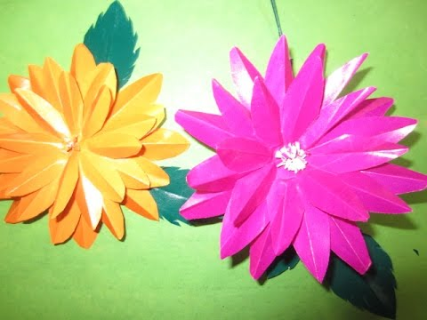 How To Make A Paper Flower Craft Art