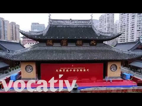 Shanghai's 2,200-Ton Jade Buddha Temple Moved 100 Feet