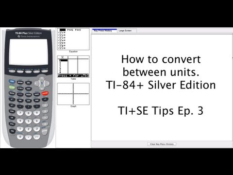 Convert Between Various Units On The Ti Calculator