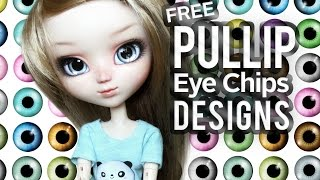 Free Printable Pullip Eye Chips Designs