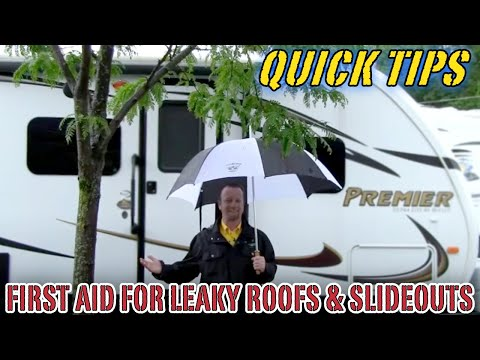 First Aid for Leaky Roofs and Slideouts Pete\u0027s RV Quick Tips - YouTube