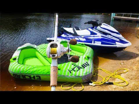InnerTube and JetSki Fishing Challenge!! (ft. Chris Bulaw)