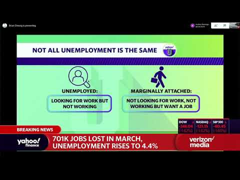 The difference between 701,000 jobless claims and the 4% unemployment rate