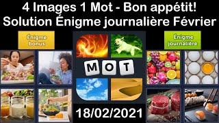 4 Images 1 Mot - Bon appétit! …