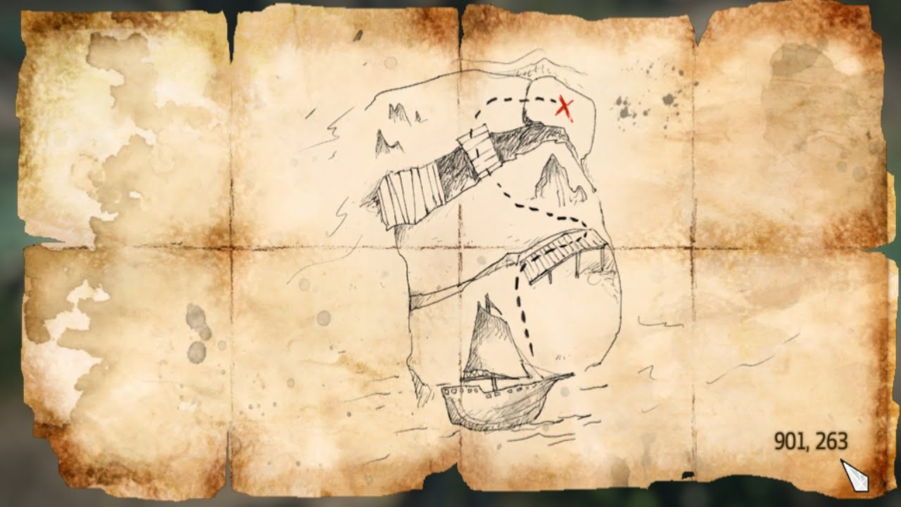 Assassins Creed Iv Black Flag Treasure Map 901 263 Youtube