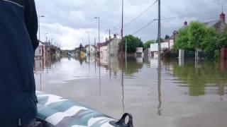 Dordives inondations 2016 (vidéo 2)